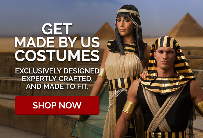 Made By Us Costumes. Exclusively Designed Expertly Crafted and Made to Fit.