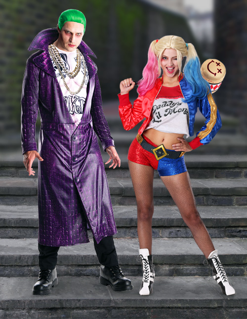 Suicide Squad Joker and Harley Quinn Costumes