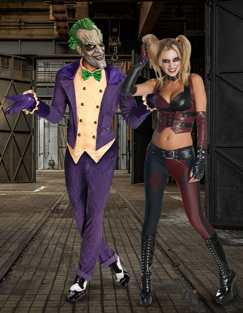 Joker and Harley Quinn Halloween Costumes