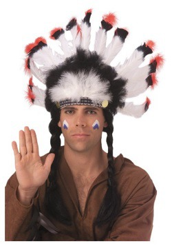 Feathered American Indian Headdress