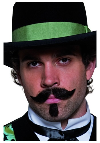 Western Gambler Moustache and Beard