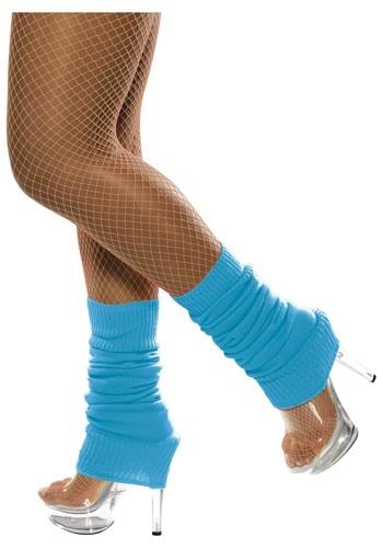 Neon Blue Leg Warmers