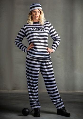 Plus Size Women's Prisoner Costume 1