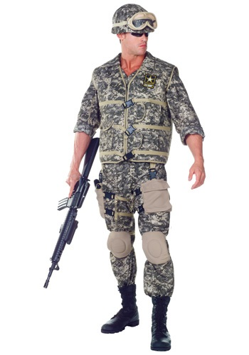 Plus Size Deluxe U.S. Army Ranger Costume