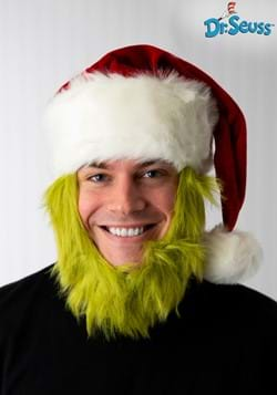 Grinch Hat with Fur Beard