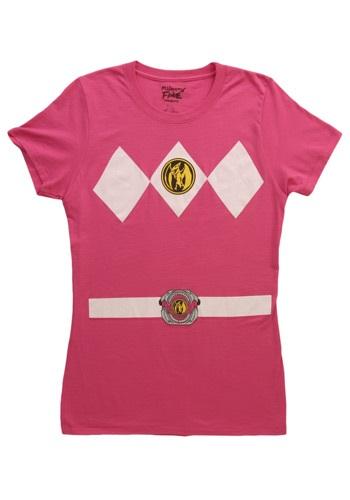 Womens Pink Power Ranger Costume T-Shirt