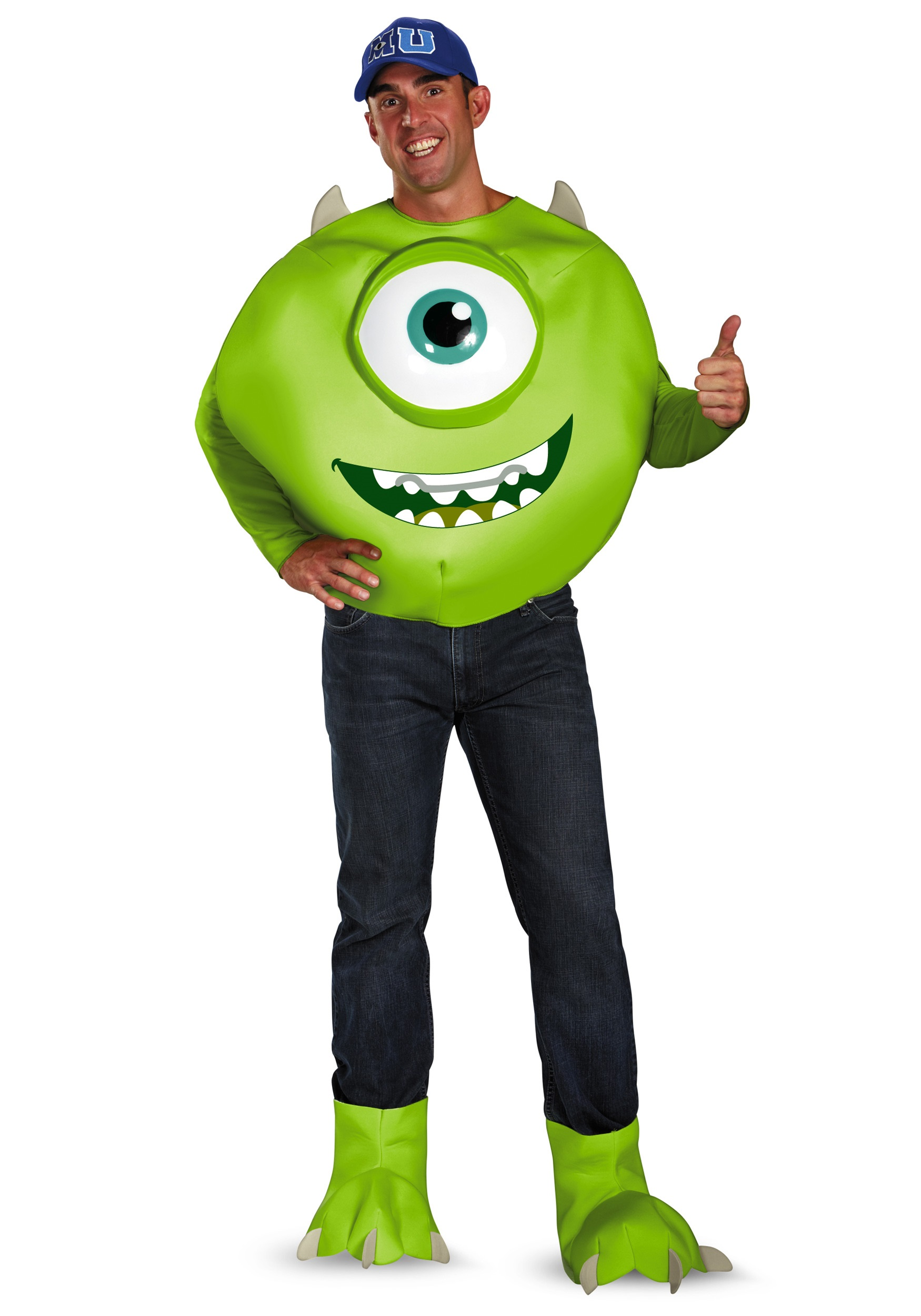 Deluxe Adult Mike Costume  sc 1 st  Halloween Costumes UK & Monsters Inc Deluxe Adult Mike Costume