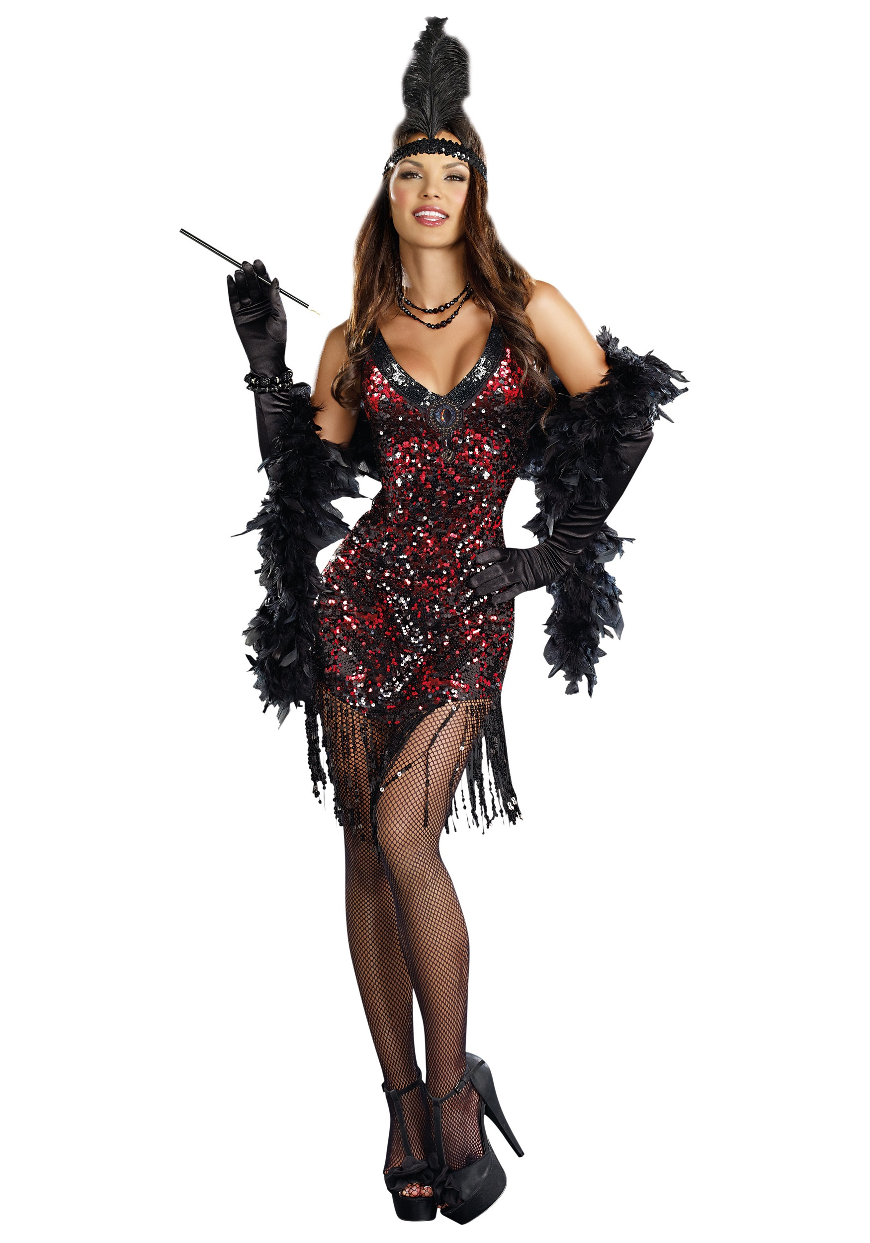 Womens Dames Like Us Flapper Costume  sc 1 st  Halloween Costumes UK & 20u0027s Costumes - Kids and Adults 1920s Costumes