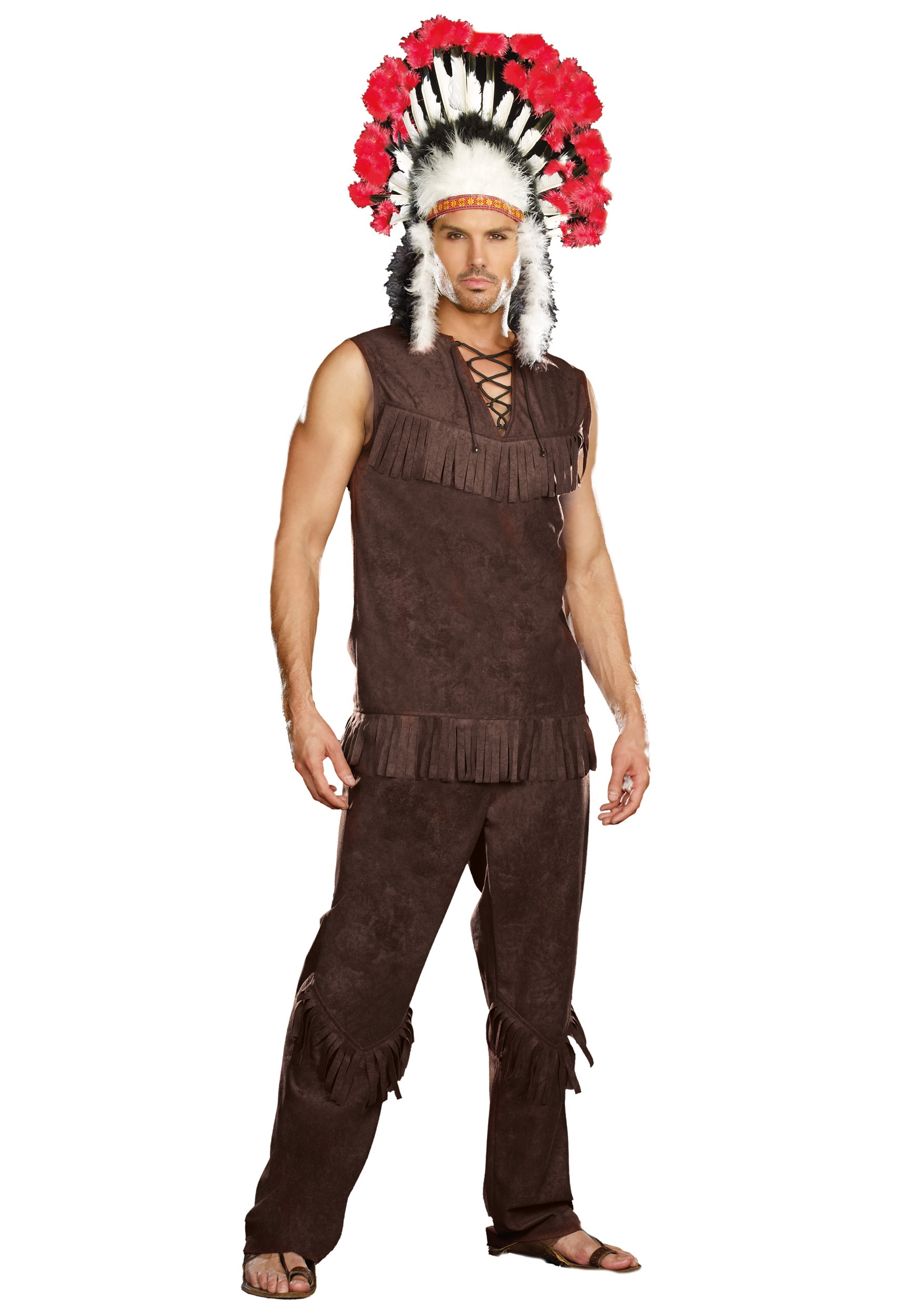 sc 1 st  Halloween Costumes UK & Mens Chief Long Arrow Indian Costume