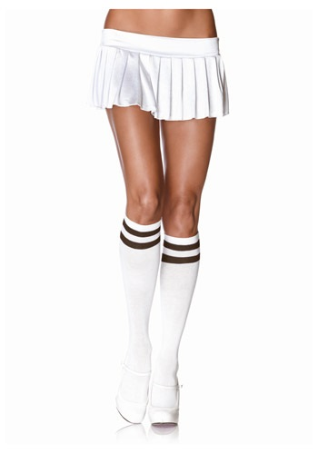 Athletic Knee High Stockings White/Black