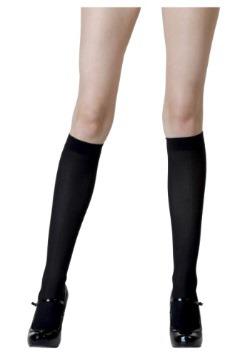 Black Knee High Stockings for Women