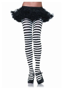 Black & White Striped Tights