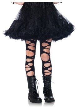 Girls Tattered Gothic Tights