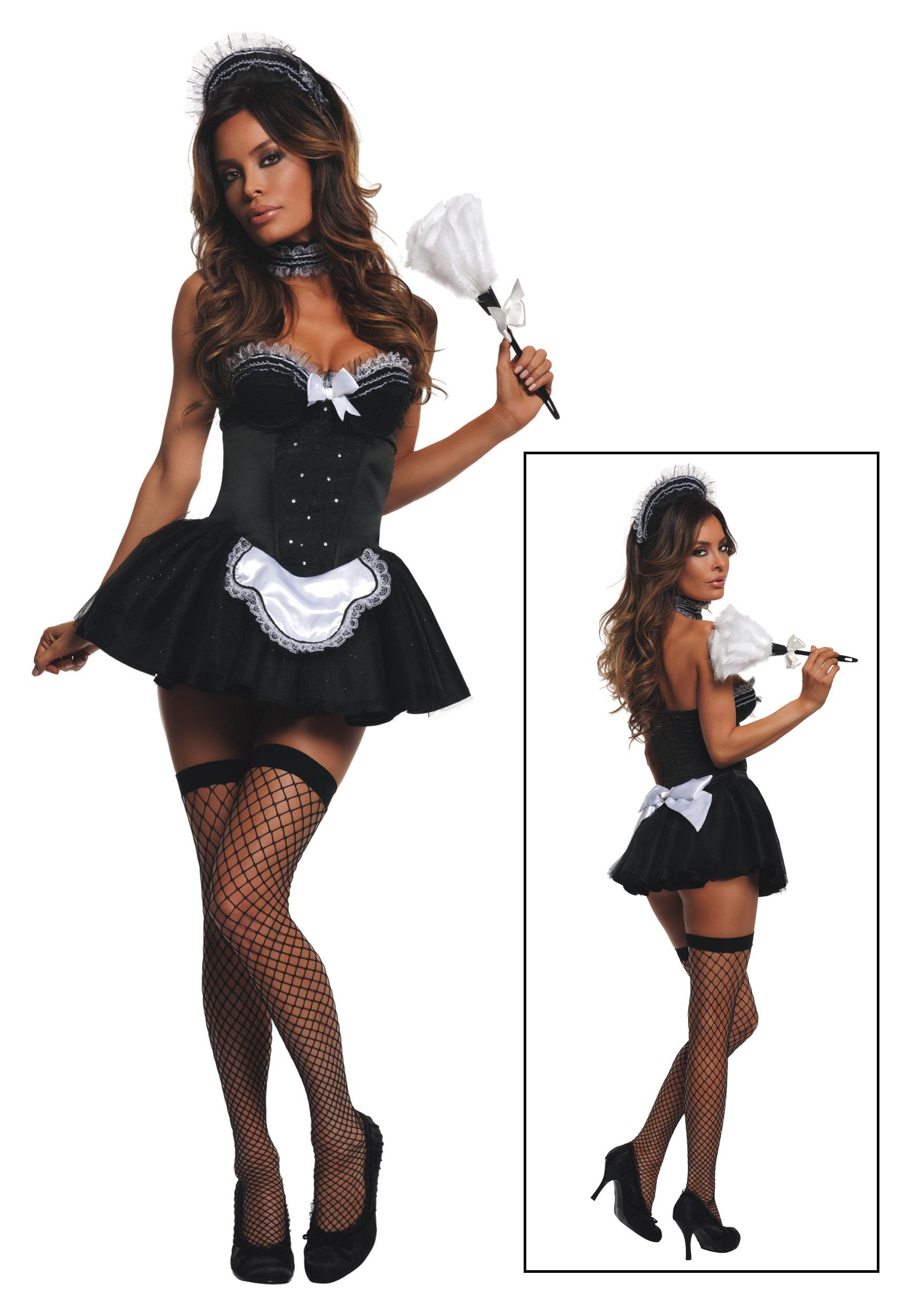 Women 39 S Seductive Maid Costume