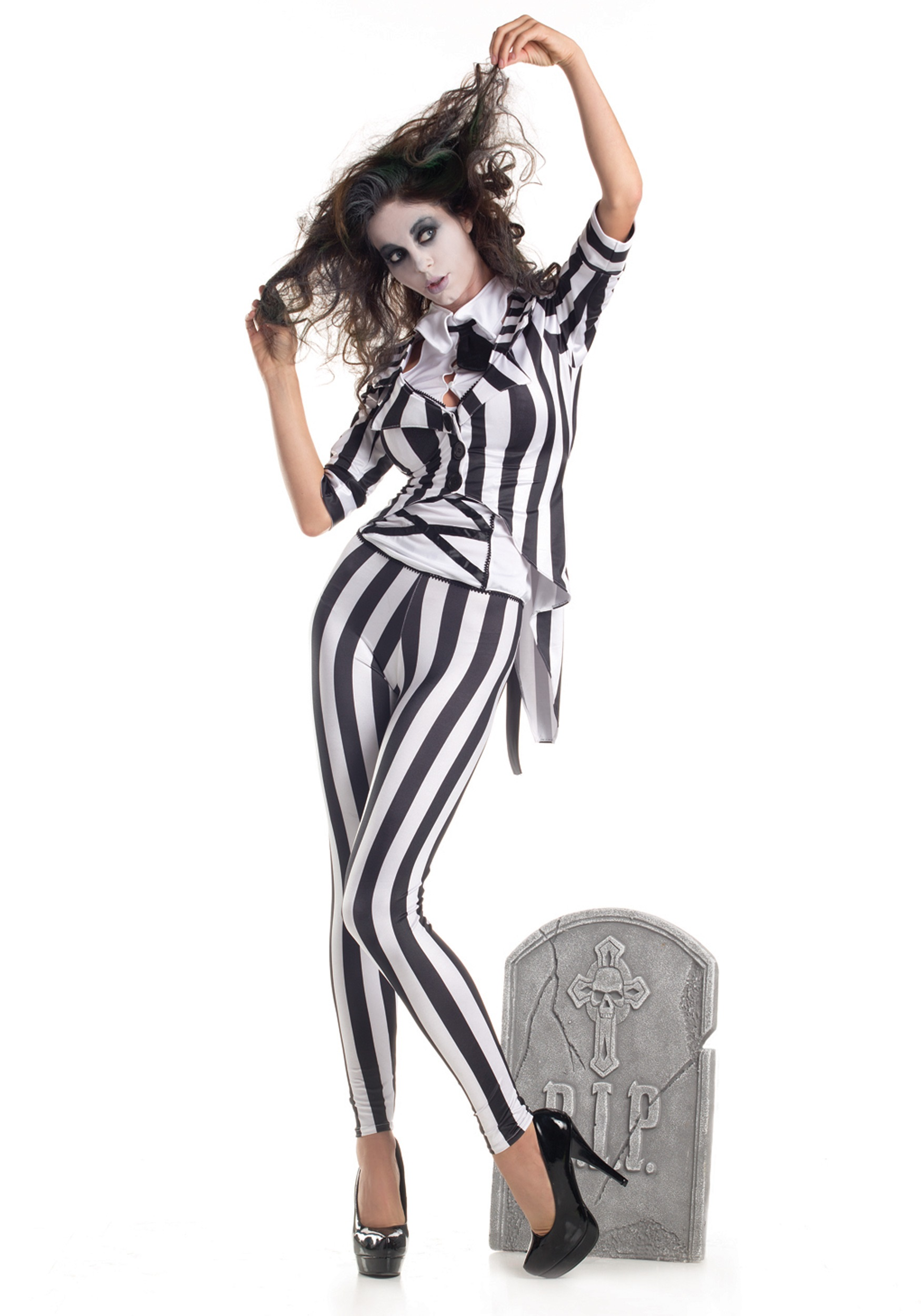 INOpets.com Anything for Pets Parents & Their Pets Adult Graveyard Ghost Fancy Dress Costume