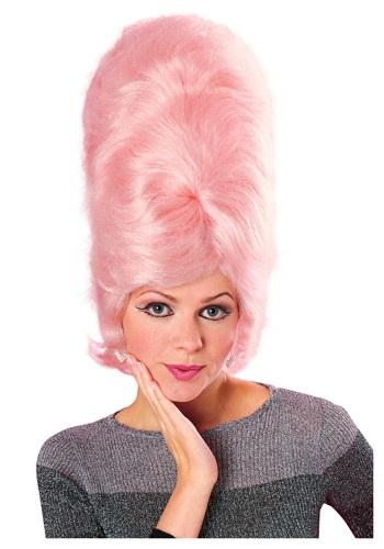 Pink Beehive Wig