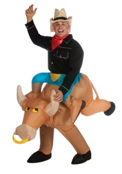 Inflatable Bull Rider Costume