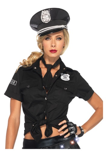 Womens Police Shirt & Tie