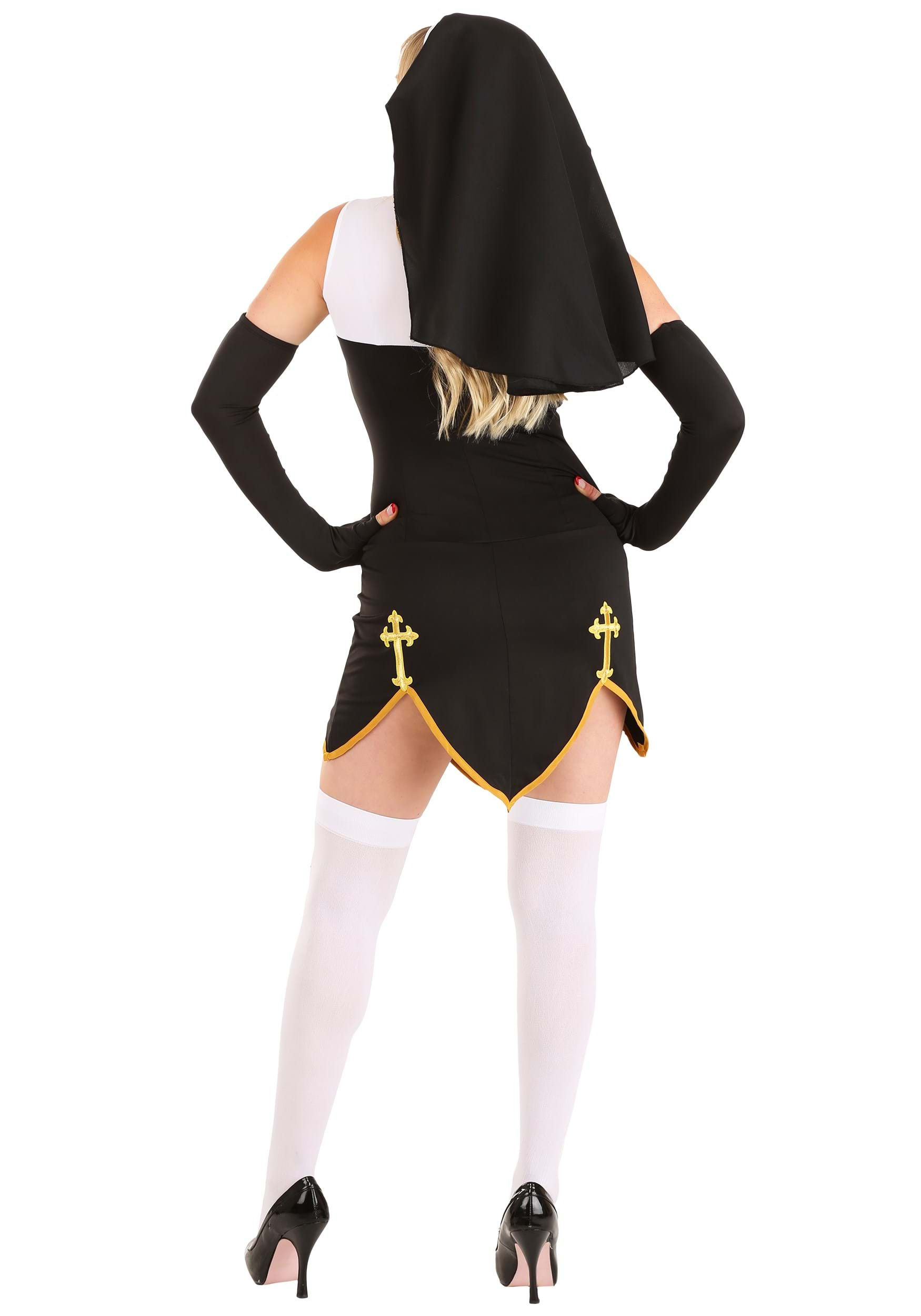 sc 1 st  Halloween Costumes UK & Bad Habit Nun Costume