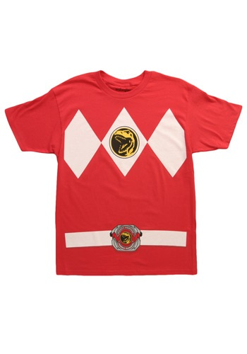 Red Power Ranger Costume T-Shirt