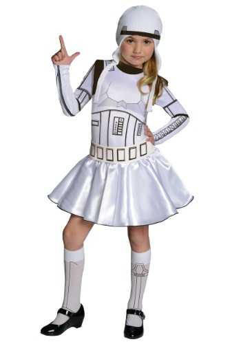 Storm Trooper Girls Dress Costume
