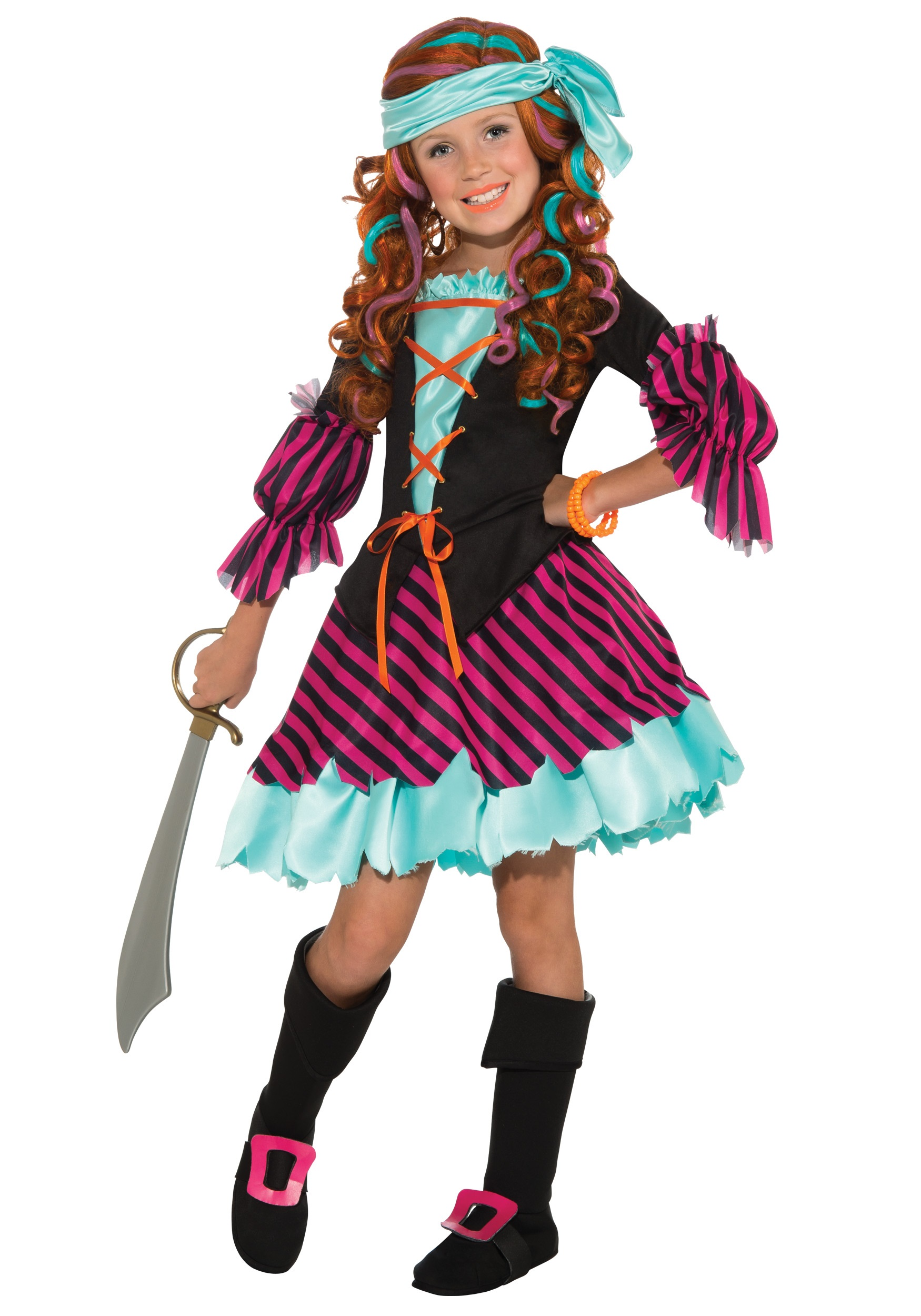 Salty Taffy Girls Costume  sc 1 st  Halloween Costumes UK & Salty Taffy Girls Pirate Costume