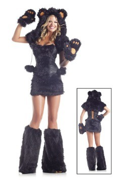 8 pc Deluxe Black Bear Costume