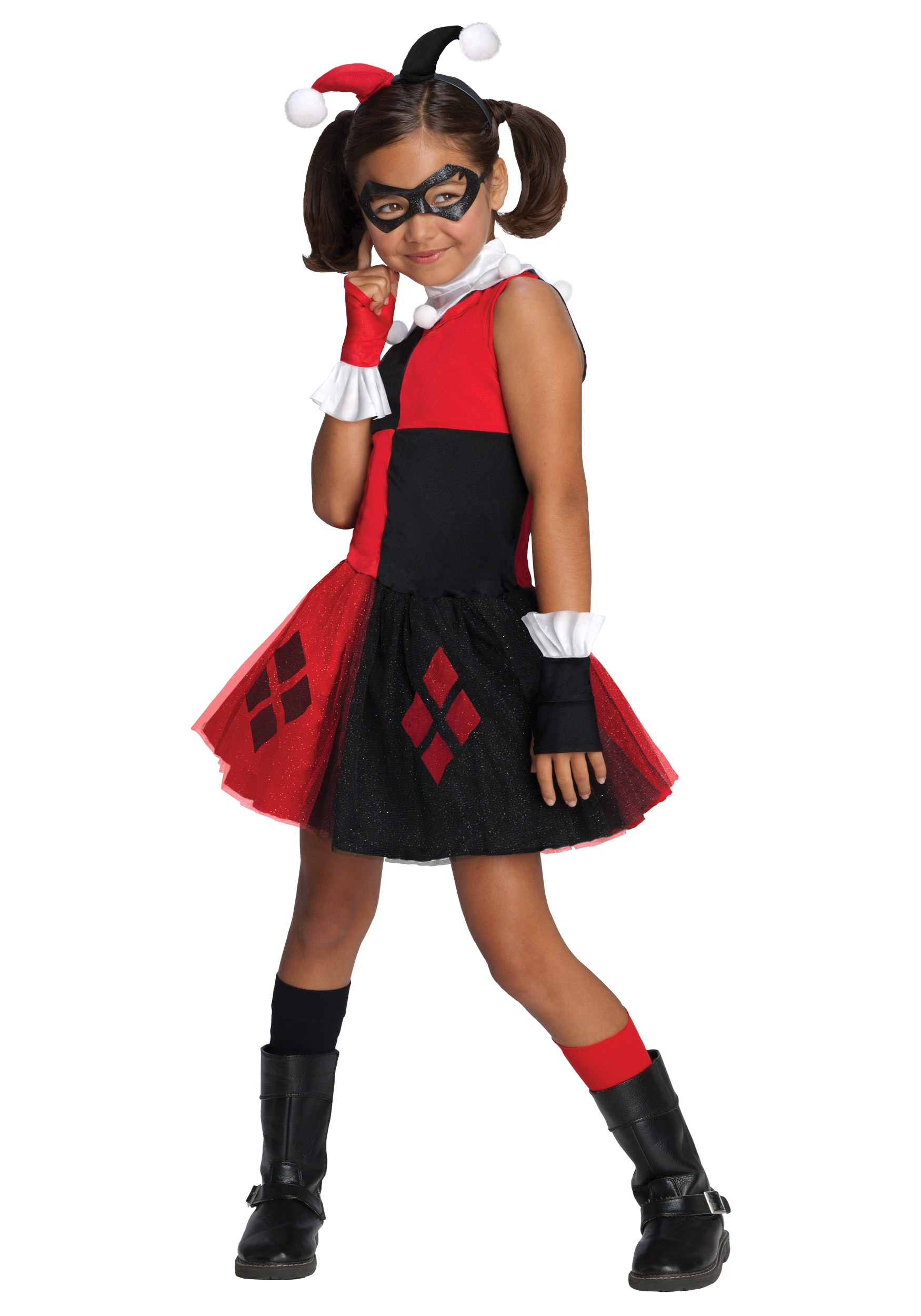sc 1 st  Halloween Costumes UK & Girls Harley Quinn Tutu Costume