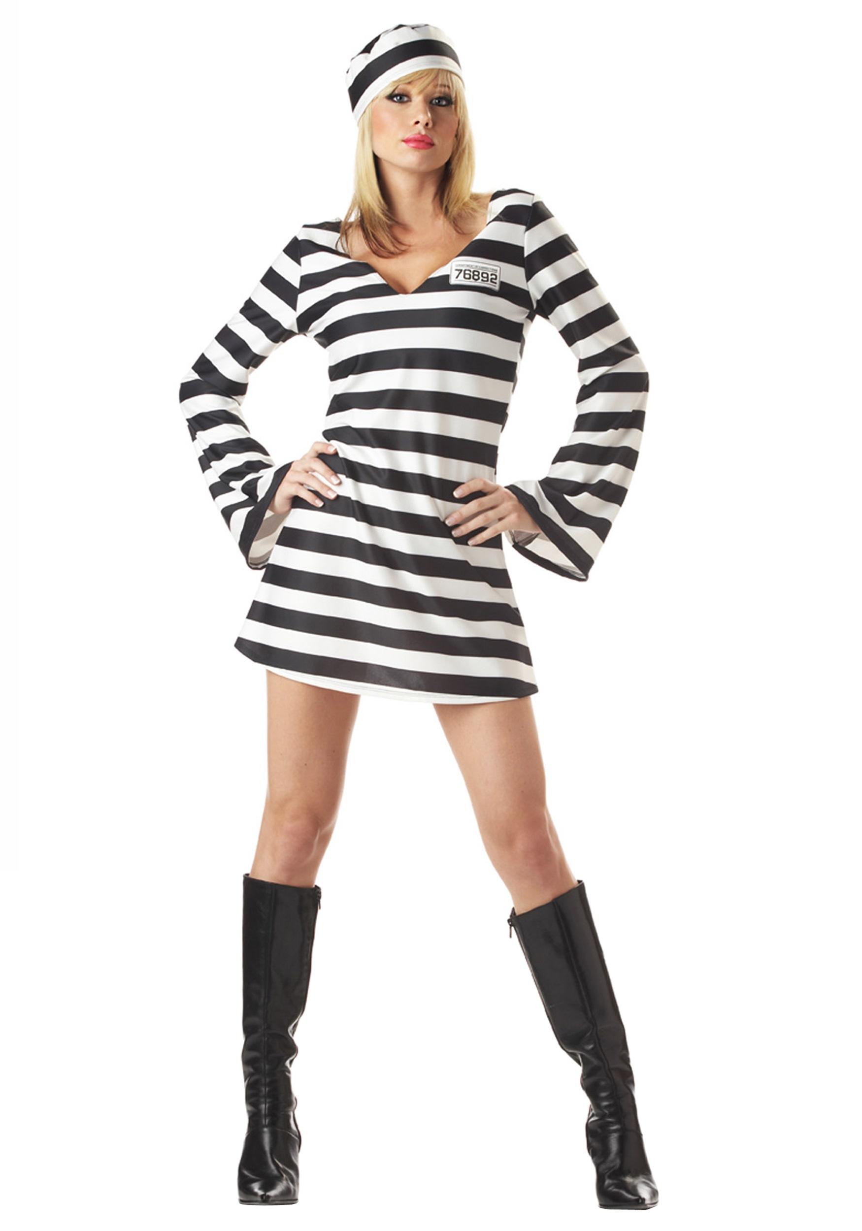 sc 1 st  Halloween Costumes UK & Womenu0027s Prisoner Costume