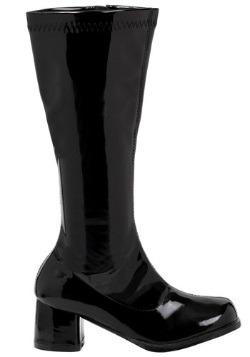 Girls Black Gogo Boots