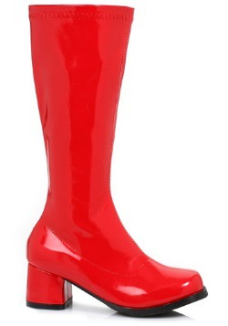 Girls Red Gogo Boots