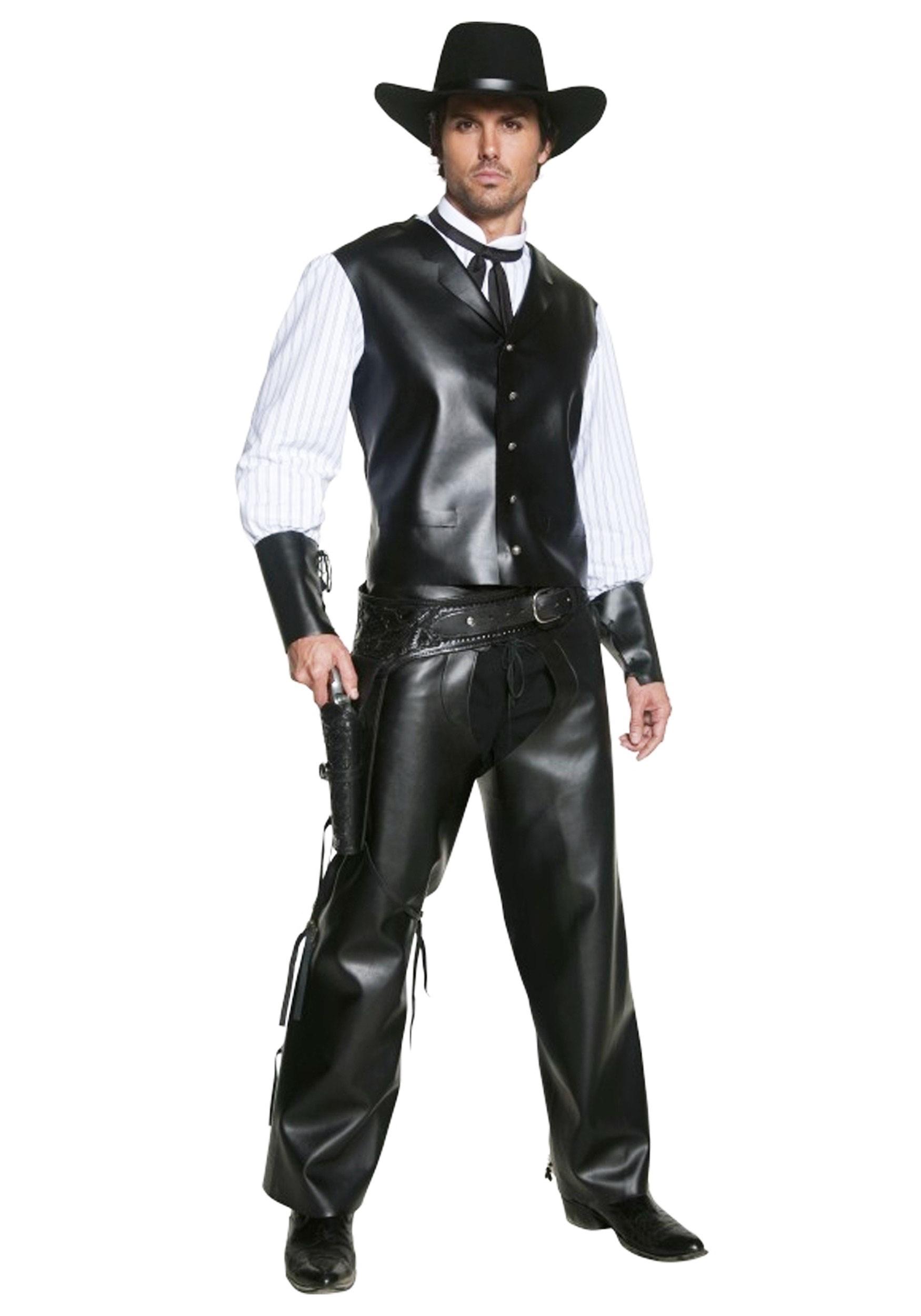Authentic Western Gunslinger Costume  sc 1 st  Halloween Costumes UK & Western u0026 Cowboy Costumes - HalloweenCostumes.com