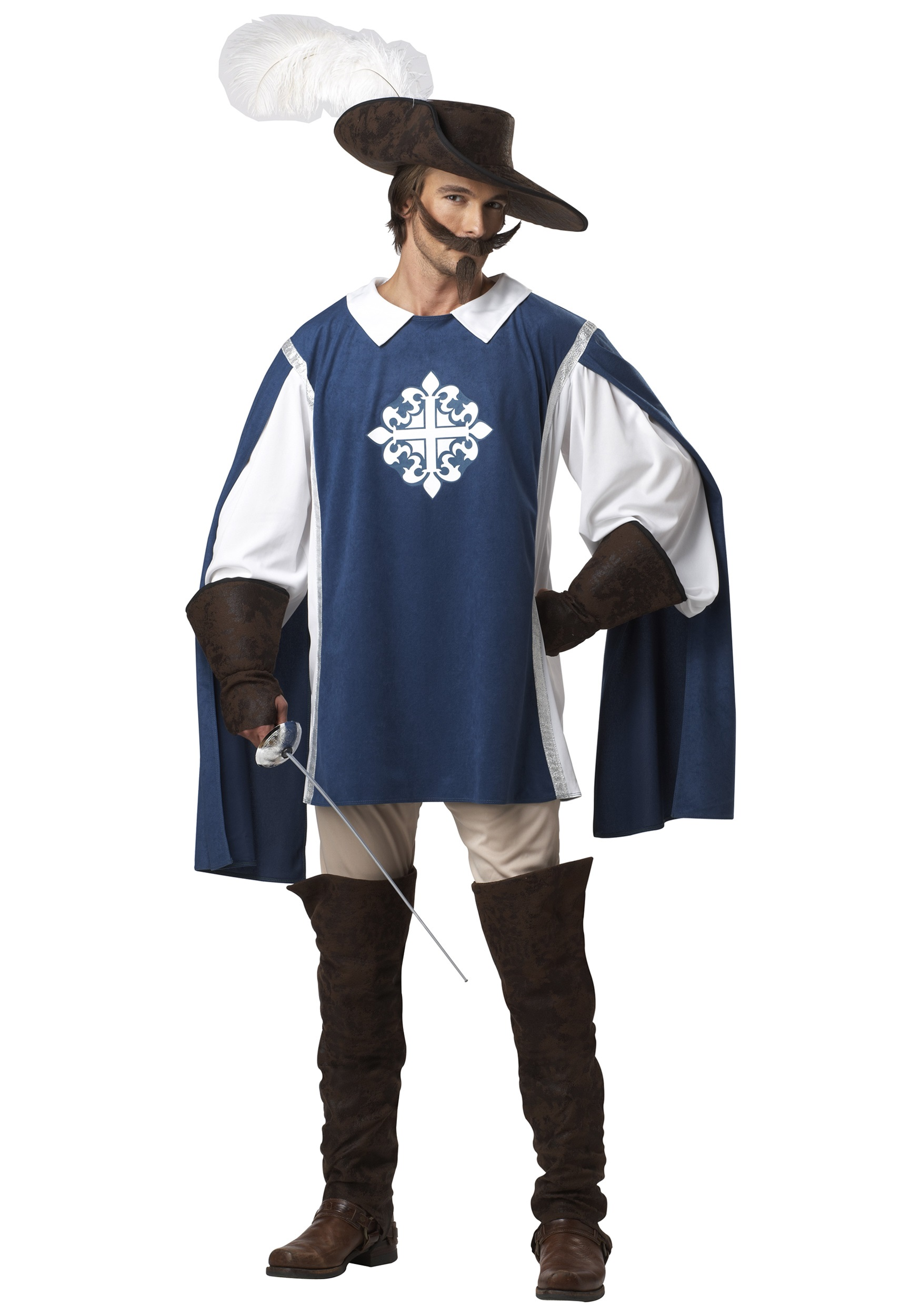 Brave Musketeer Fancy Dress Costume