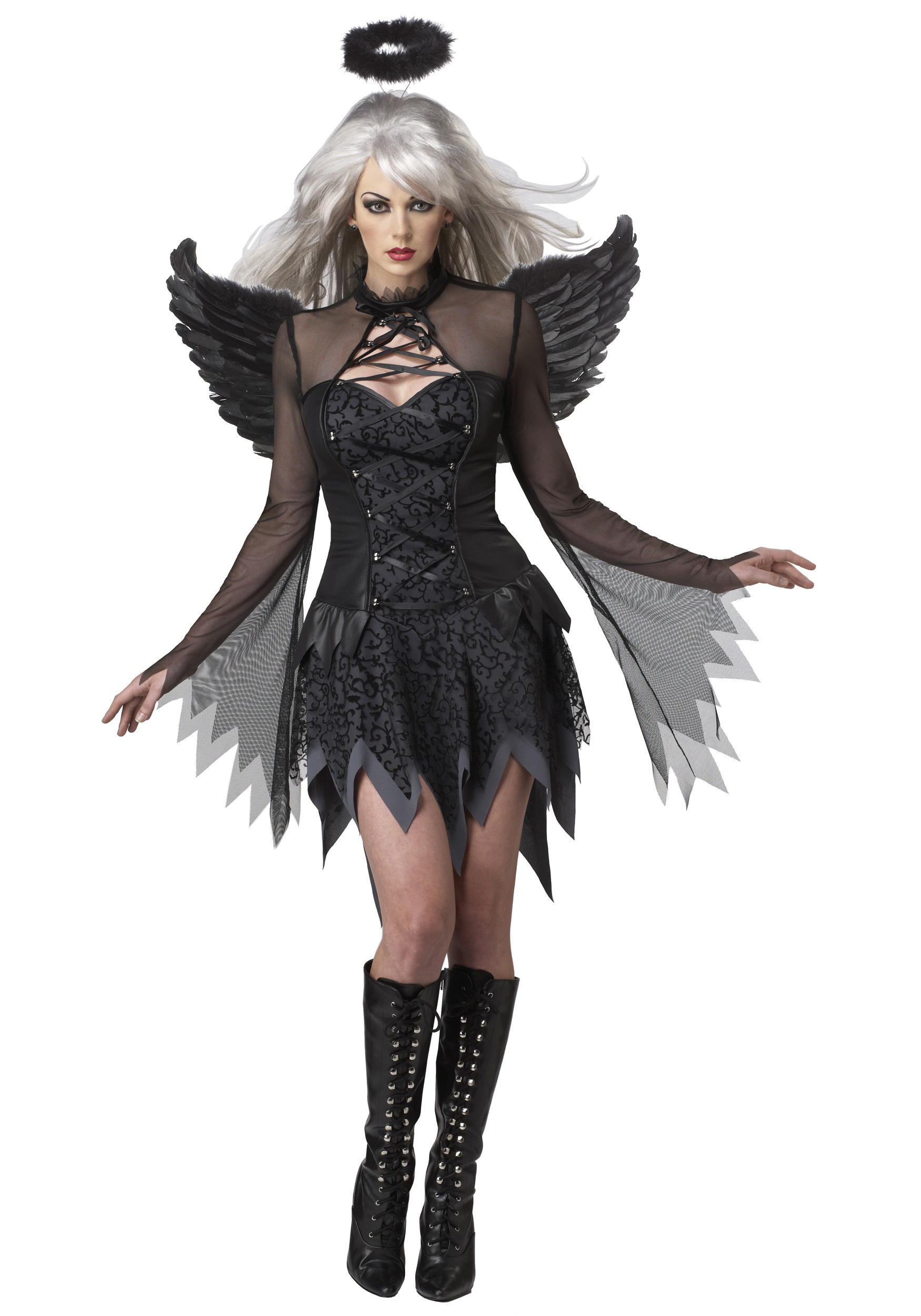 Scary adult costumes adult scary halloween costume ideas sexy fallen angel costume solutioingenieria Image collections