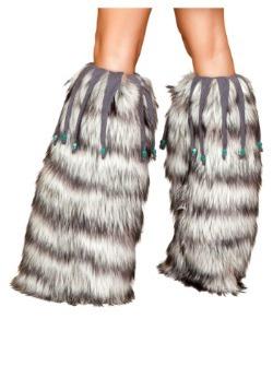 Fur Leg Warmers with Beads