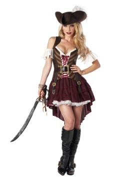 Plus Size Sexy Swashbuckler Captain Costume-update1