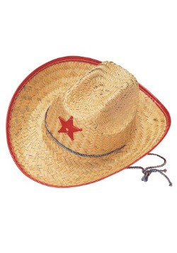 Kids Straw Cowboy Hat