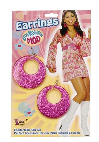 Pink Mod Earrings