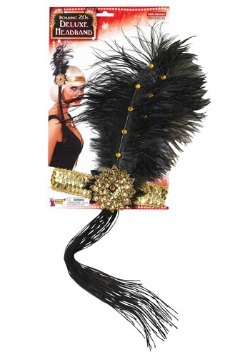 Gold and Black Flapper Headband
