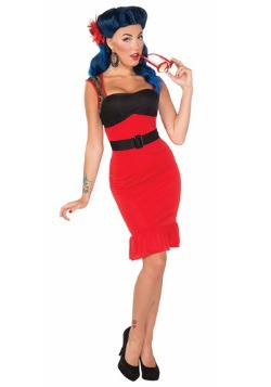 Scarlet Rose Rock-a-billy Dress