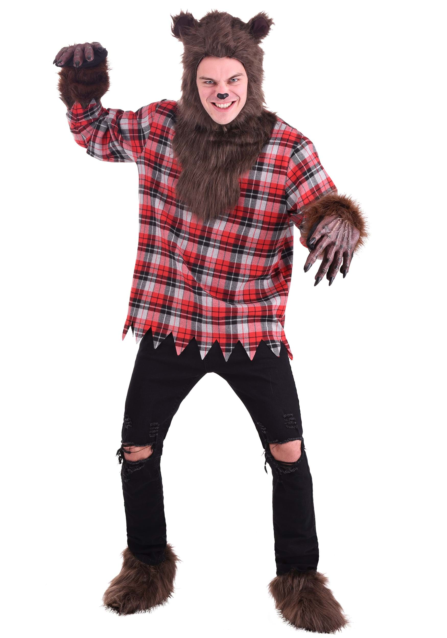 Adult Werewolf Costume  sc 1 st  Halloween Costumes UK & Wolf Costumes - Adult Kids Wolf Costume Werewolf Costumes