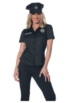 Womens Police Shirt Costume