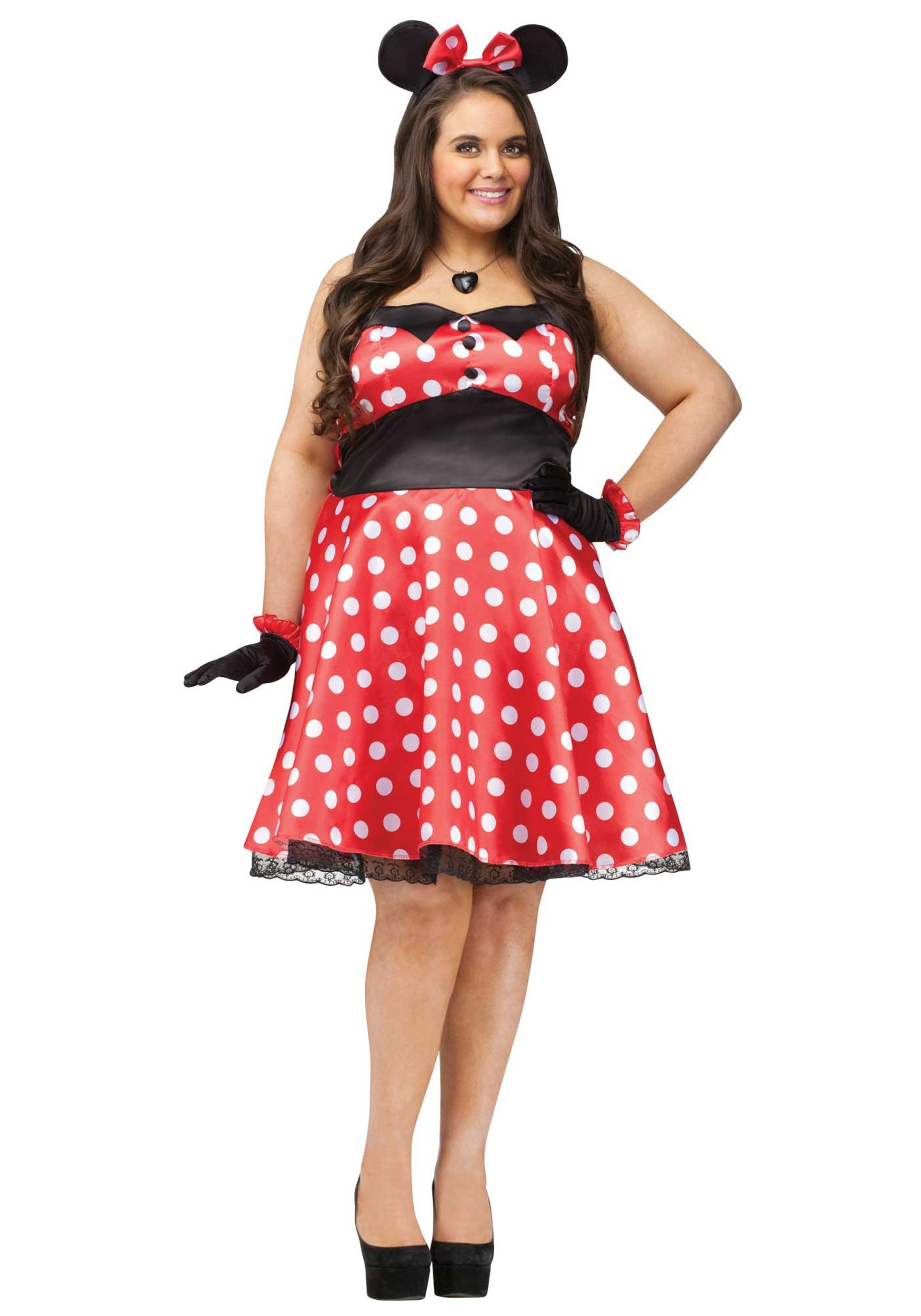 0ab70f0be751a Plus Size Retro Miss Mouse Costume