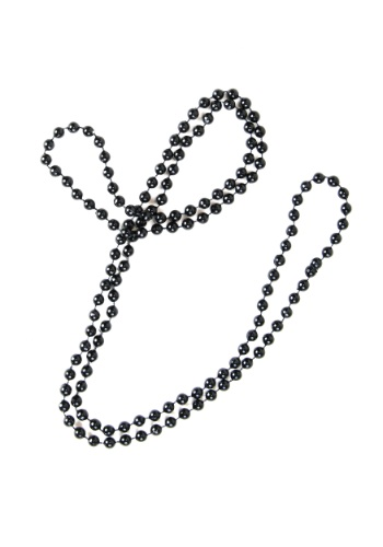 Black Flapper Beads
