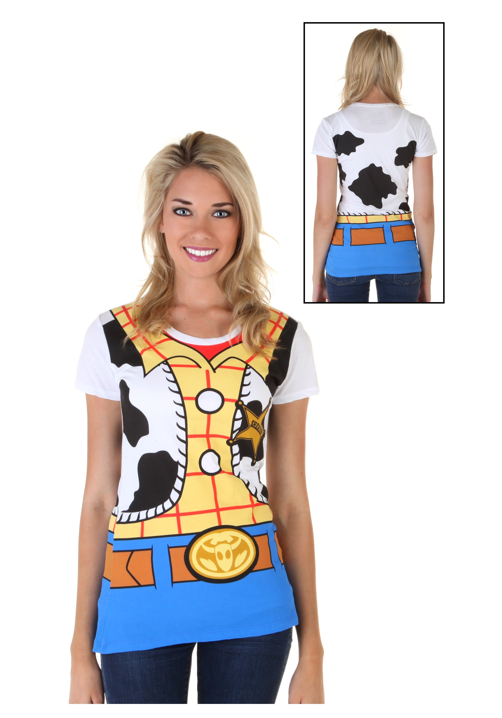 Womens toy story i am woody costume t shirt for Costume t shirts online