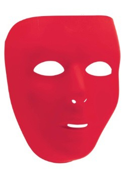 Red Full Face Mask