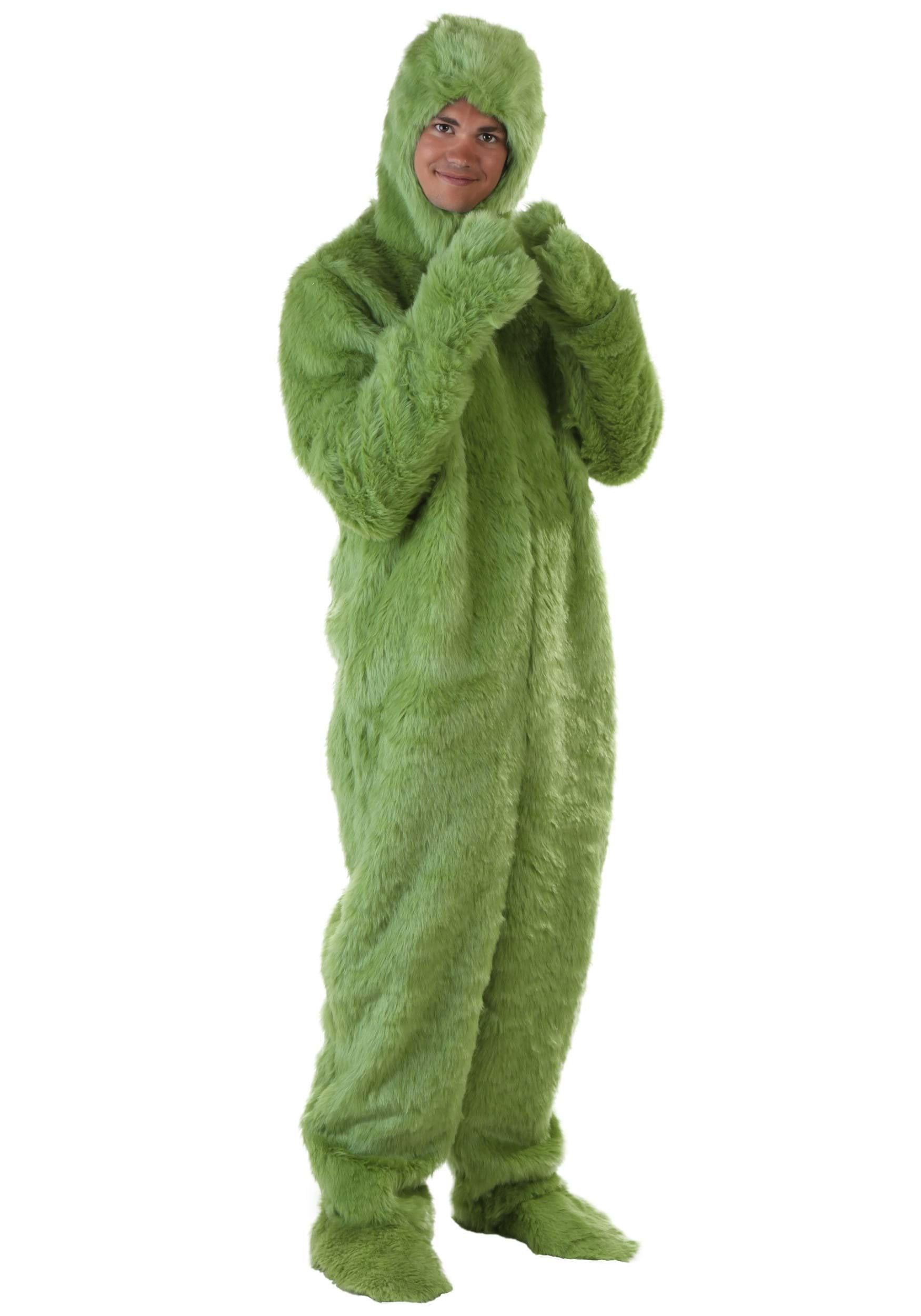 sc 1 st  Halloween Costumes UK & Adult Green Furry Jumpsuit