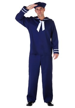 Plus Size Blue Sailor Costume