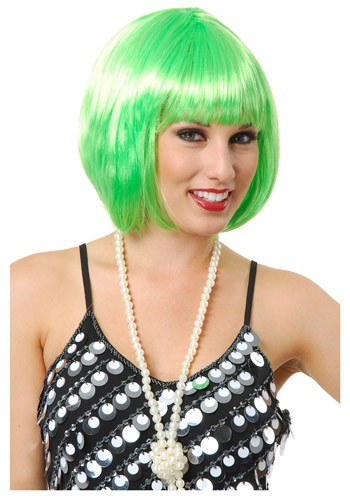 Short Bob Lime Green Wig