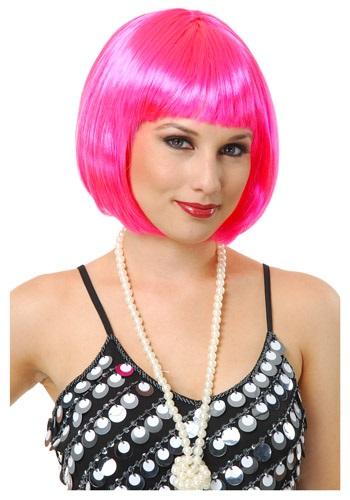 Short Bob Hot Pink Wig